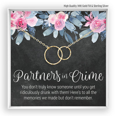 Partners in Crime <br> Linked Circles Necklace - Bella and Blush