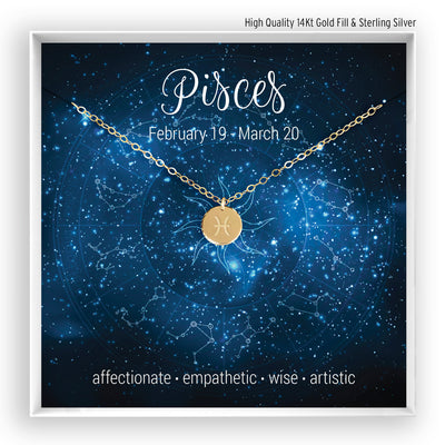 Pisces Necklace - Bella and Blush