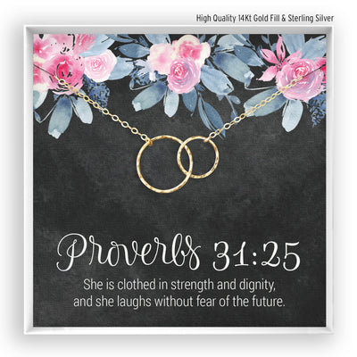 Proverbs <br> Linked Circles Necklace - Bella and Blush