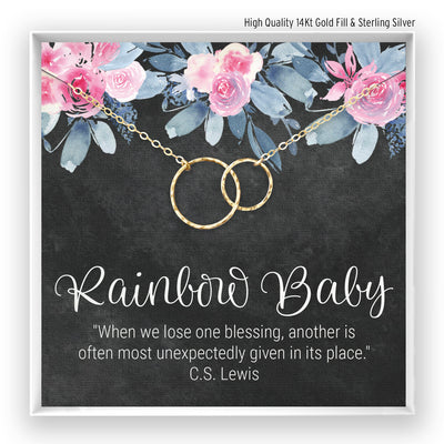 Rainbow Baby <br> Linked Circles Necklace - Bella and Blush