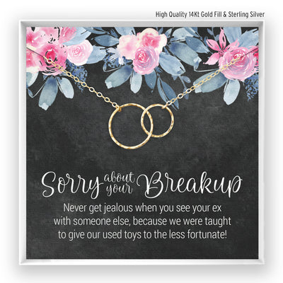 Breakup <br> Linked Circles Necklace - Bella and Blush