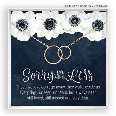 Copy of Sorry for your Loss <br> Linked Circles Necklace - Bella and Blush