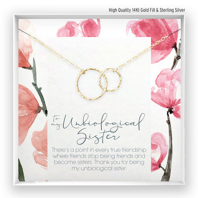 Unbiological Sister <br> Linked Circles Necklace - Bella and Blush