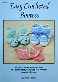Easy Crocheted Bootees