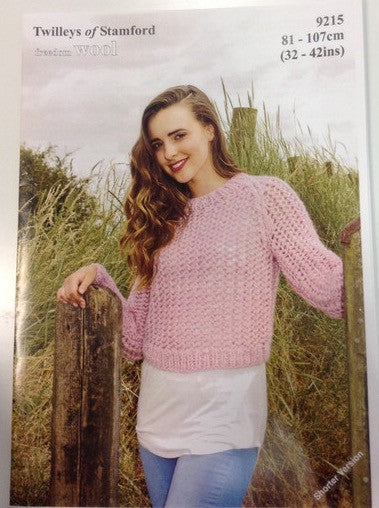 Freedom Wool Crop Mesh Sweater Pattern 9215