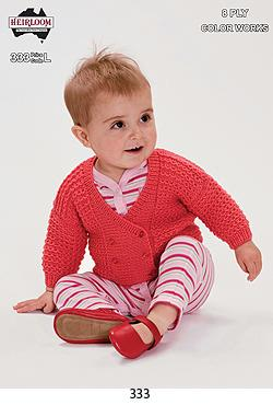 Heirloom 8 Ply Childrens Cardigan 333