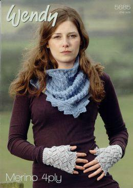 Wendy Scarf and Fingerless Gloves 5685