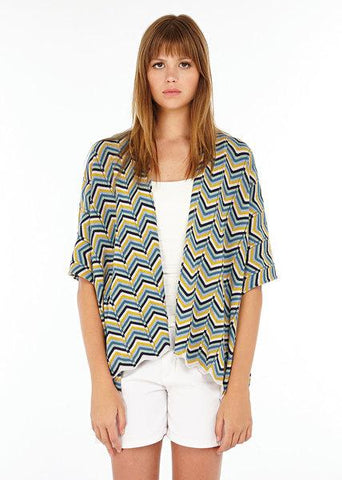 Audrey Six Colour Chevron Cape