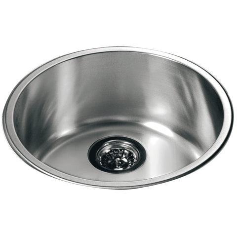 3235 Dawn Single Bowl Topmount Round Bar Sink