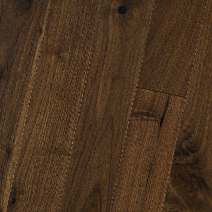 "Black Walnut Butter Rum - Traditional Character Smooth Collection - 4"" Solid Hardwood Flooring by HomerWood - Hardwood by HomerWood"