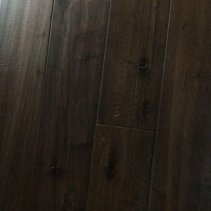 "Black Walnut Dusky - Character Amish Soft Scraped Collection - 5"" Solid Hardwood Flooring by HomerWood - Hardwood by HomerWood"