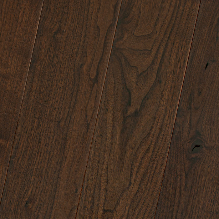 "Black Walnut Saddle - Traditional Character Smooth Collection - 4"" Solid Hardwood Flooring by HomerWood - Hardwood by HomerWood"