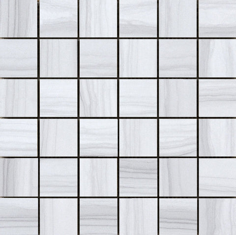 "ARCHIVE - 2"" x 2"" on 12"" x 12"" Mesh Mosaic Glazed Porcelain Tile by Emser - Tile by Emser Tile - The Flooring Factory"