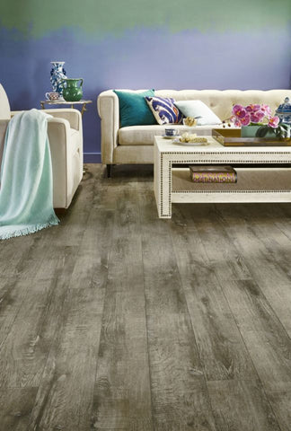 Etched Gray - 12mm Laminate Flooring by Armstrong - The Flooring Factory