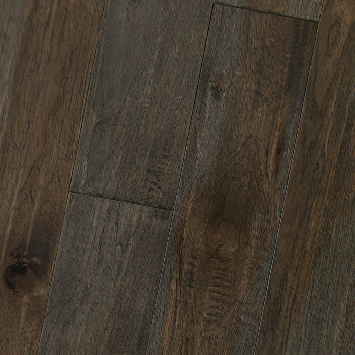 "Hickory Graphite - Character Amish Soft-Scraped Collection - 4"" Engineered Hardwood Flooring by HomerWood - Hardwood by HomerWood"