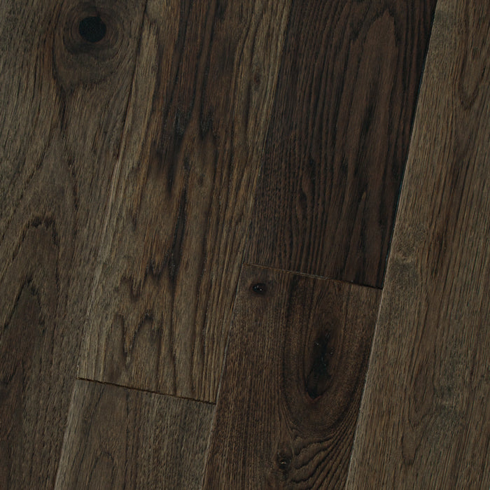"Hickory Smoked Graphite - Hickory Smooth & Smoked Collection - 8"" Engineered Hardwood Flooring by HomerWood - Hardwood by HomerWood"