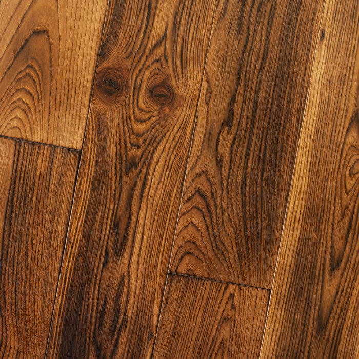 "Hickory Smoked Tumeric - Hickory Smooth & Smoked Collection - 4"" Engineered Hardwood Flooring by HomerWood - Hardwood by HomerWood"