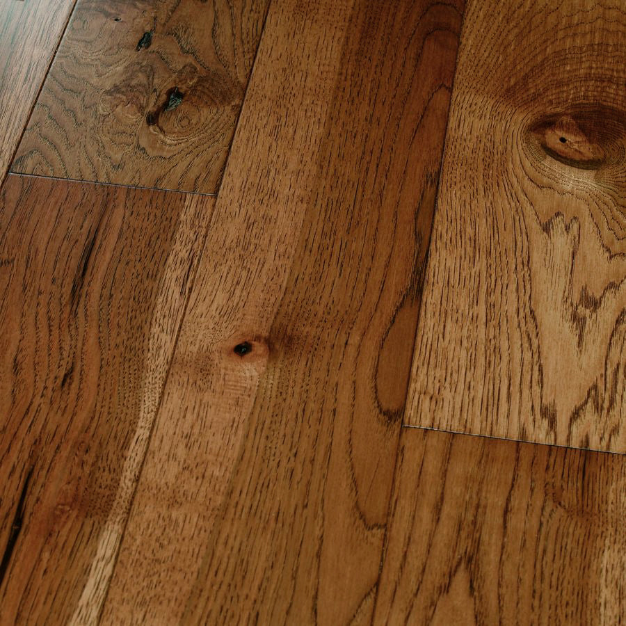 "Hickory Saddle - Traditional Character Premium Hickory Collection - 8"" Engineered Hardwood Flooring by HomerWood - Hardwood by HomerWood"