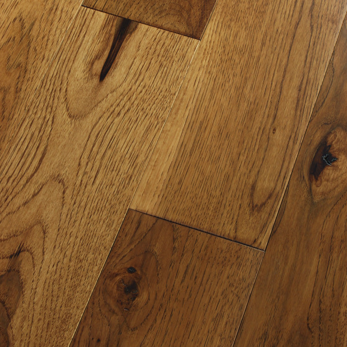 "Hickory Tumeric - Traditional Character Premium Hickory Collection - 4"" Engineered Hardwood Flooring by HomerWood - Hardwood by HomerWood"