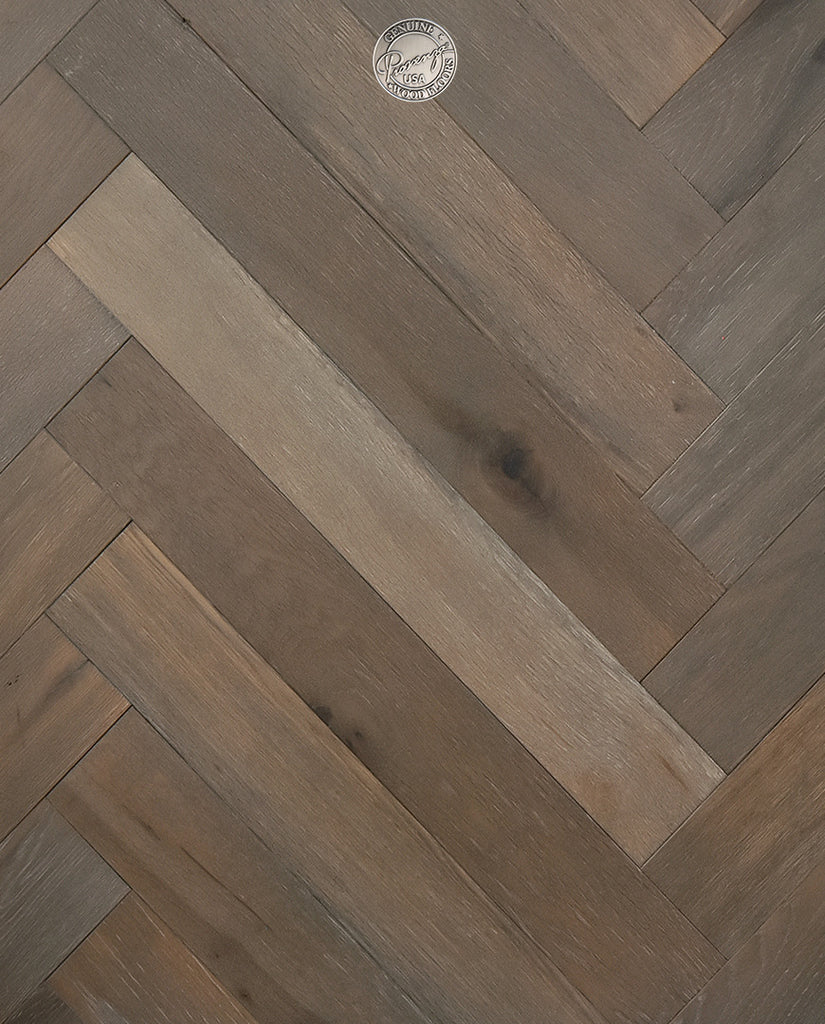 Stone Grey - Herringbone Reserve Collection - Engineered Hardwood Flooring by Provenza - Hardwood by Provenza