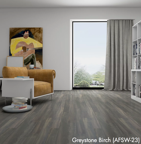 Greystone Birch - Waterproof Rigid Wood with StoneCoreX Collection - 7mm Waterproof Flooring by Alston - Waterproof Flooring by Alston