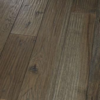 "Hickory Graphite - Character Amish Hand-Scraped Collection - 8"" Engineered Hardwood Flooring by HomerWood - Hardwood by HomerWood"