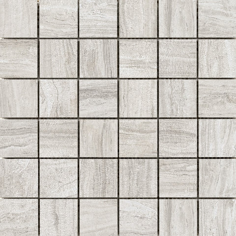 "TERRANE - 2"" X 2"" on 12"" X 12"" Mesh Mosaic Glazed Porcelain Tile by Emser - The Flooring Factory"