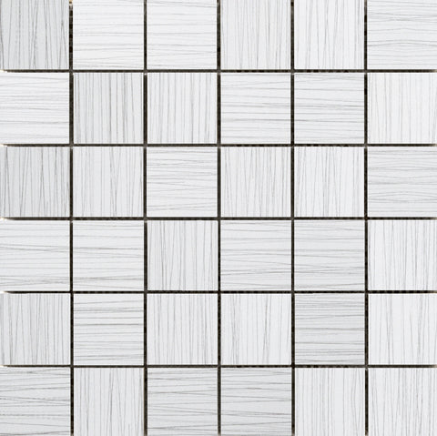 "THREAD - 2"" X 2"" on 12"" X 12"" Mesh Mosaic Glazed Porcelain Tile by Emser - The Flooring Factory"