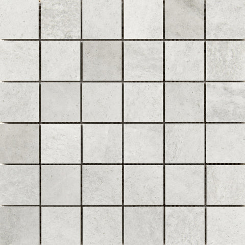 "TROVATA - 2""X2"" on 13"" X 13"" Mesh Mosaic Glazed Porcelain Tile by Emser - The Flooring Factory"