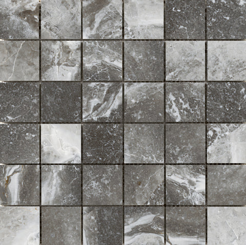 "VIENNA - 2""X2"" on 13""x 13"" Mesh Mosaic Glazed Porcelain Tile by Emser - The Flooring Factory"