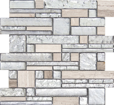 VISTA™ -  Glass & Stone Mosaic Tile by Emser Tile - The Flooring Factory