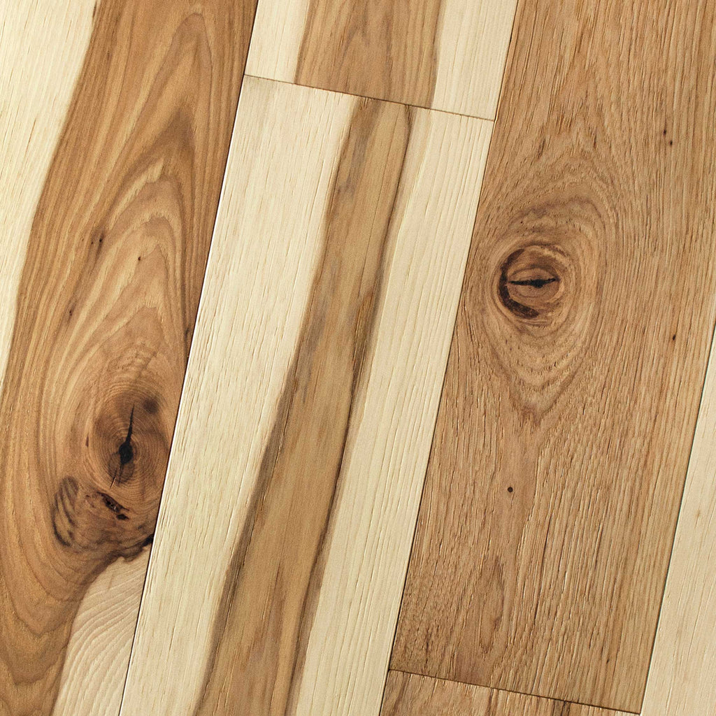 "Hickory Natural - Hickory Wire-Brushed Collection - 4"" Engineered Hardwood Flooring by HomerWood - Hardwood by HomerWood"