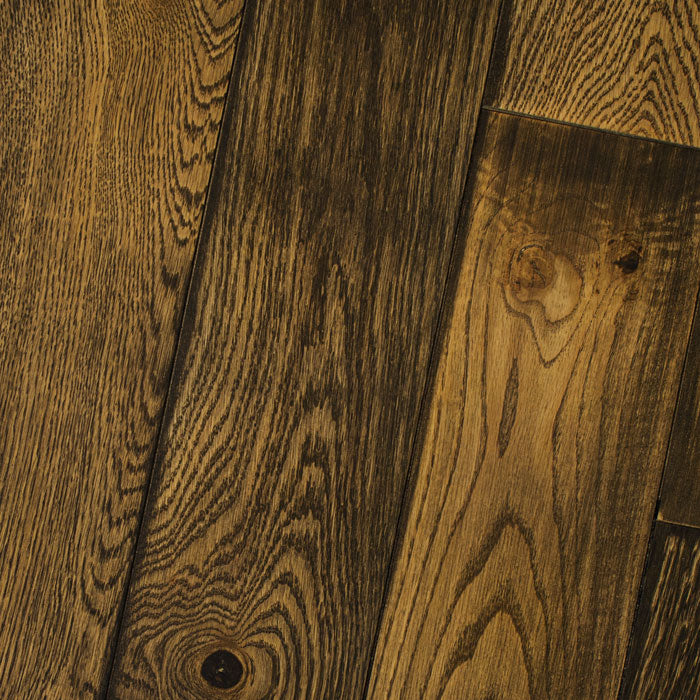 "Natural Weathered Black - Character Weathered White Oak Collection - 4"" Solid Hardwood Flooring by HomerWood - Hardwood by HomerWood"