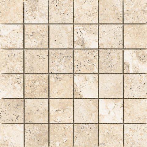 "CABO - 2""x2"" on 13"" x 13"" Mesh Mosaic Glazed Ceramic Tile by Emser - The Flooring Factory"