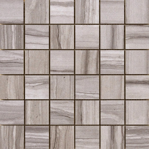 "CHRONICLE - 2"" x 2"" on 12""x 12"" Mesh Mosaic Glazed Porcelain Tile by Emser - The Flooring Factory"