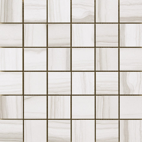 "NOWEIGHT ARCHIVE - 2""x2"" on 12"" X 12"" Mosaic  Mesh Glazed Porcelain Tile by Emser - The Flooring Factory"