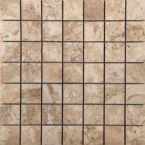 "HOMESTEAD - 2""x2"" on 13"" X 13"" Mosaic Mesh Glazed Porcelain Tile by Emser - The Flooring Factory"