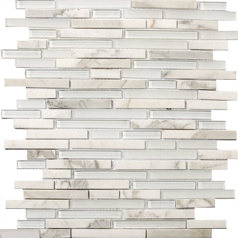 LUCENTE GLASS & STONE LINEAR BLENDS™ - Glass Wall Tile & Mosaic Tile by Emser Tile - Tile by Emser Tile