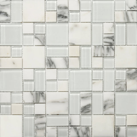 LUCENTE GLASS & STONE PATTERN BLENDS™ - Glass Wall Tile & Mosaic Tile by Emser Tile - Tile by Emser Tile