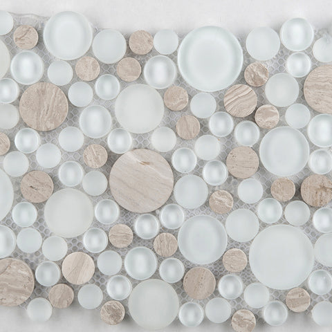 LUCENTE GLASS & STONE CIRCLE BLENDS™ - Glass Wall Tile & Mosaic Tile by Emser Tile - The Flooring Factory