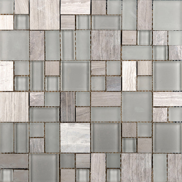 Lucente Glass Stone Pattern Blends Glass Wall Tile Mosaic Tile The Flooring Factory