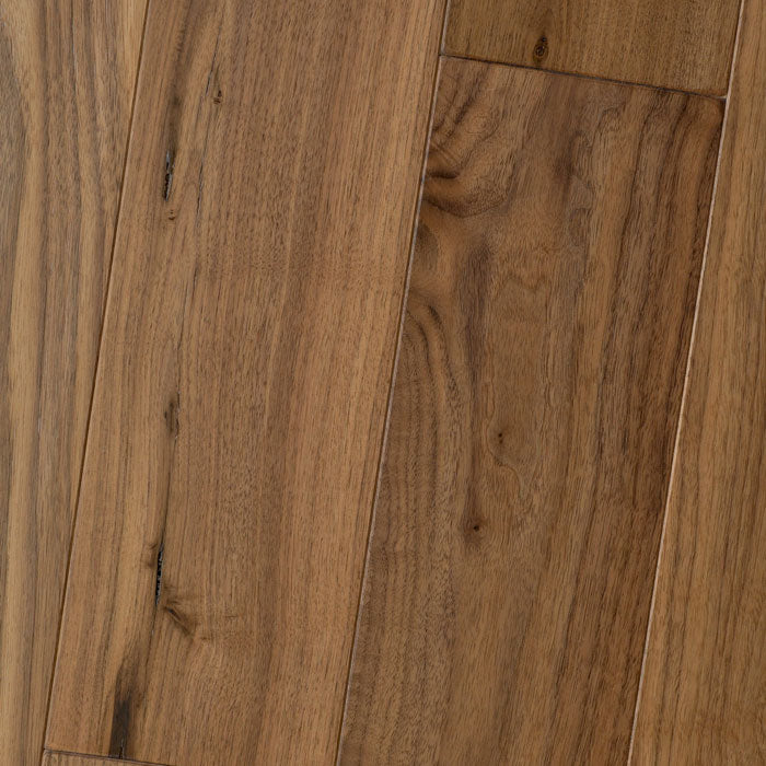 "Black Walnut Natural - Character Amish Soft Scraped Collection - 6"" Solid Hardwood Flooring by HomerWood - Hardwood by HomerWood"