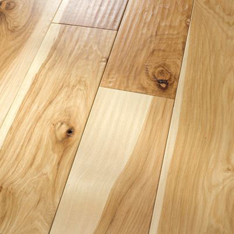 "Hickory Natural - Character Amish Hand-Scraped Collection - 4"" Engineered Hardwood Flooring by HomerWood"