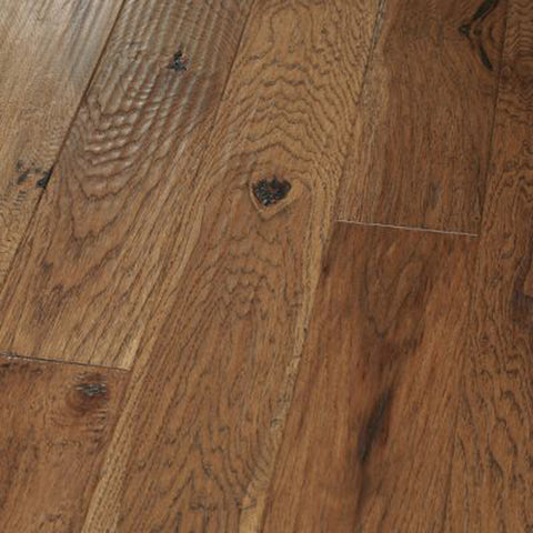 "Hickory Saddle - Character Amish Hand-Scraped Collection - 5"" Engineered Hardwood Flooring by HomerWood"