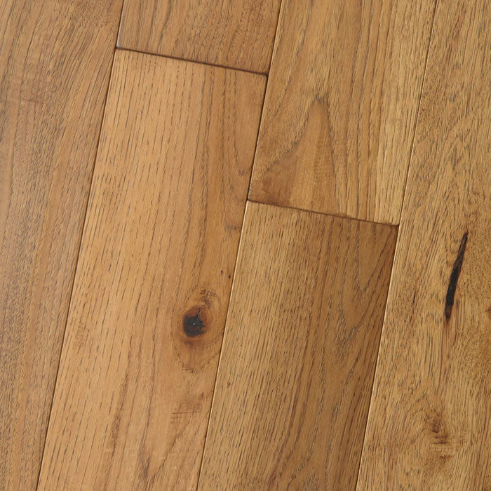 "Hickory Tumeric - Character Amish Soft-Scraped Collection - 7"" Engineered Hardwood Flooring by HomerWood - Hardwood by HomerWood"
