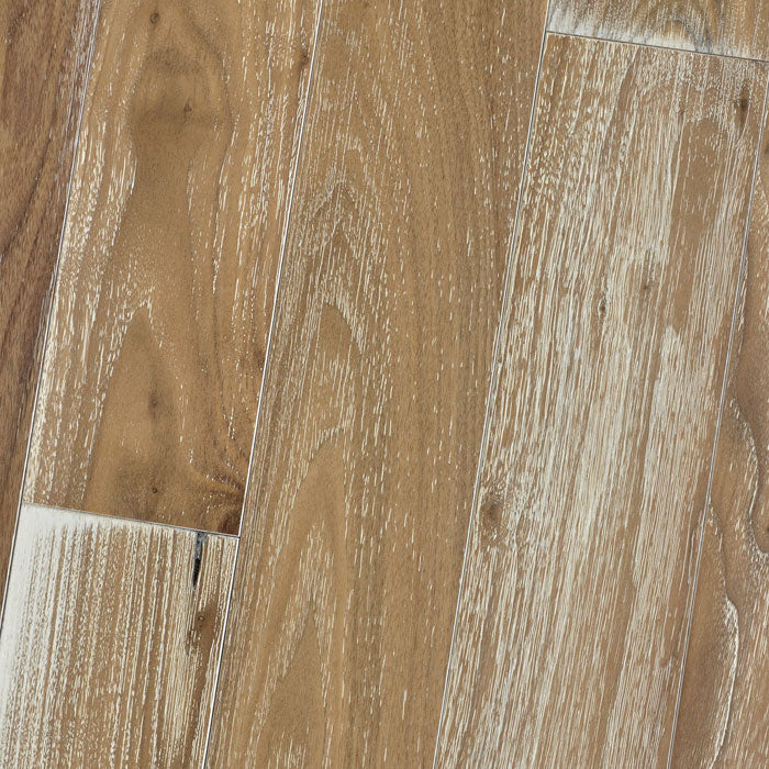 "Black Walnut Natural (White Limed) - Character Wire-Brushed Collection - 4"" Solid Hardwood Flooring by HomerWood - Hardwood by HomerWood"