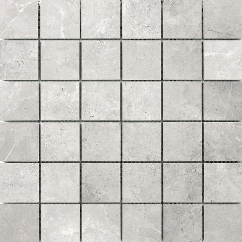 "REALM - 2"" x 2"" on 13"" X 13"" Mosaic Mesh Glazed Ceramic Tile by Emser - The Flooring Factory"