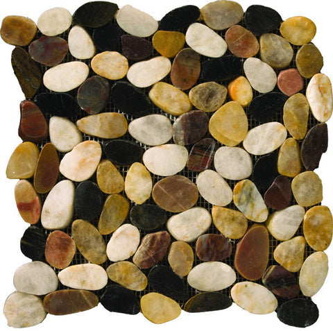RIVERA PEBBLES™ - Pebbles Style Mosaic Tile by Emser Tile - Tile by Emser Tile