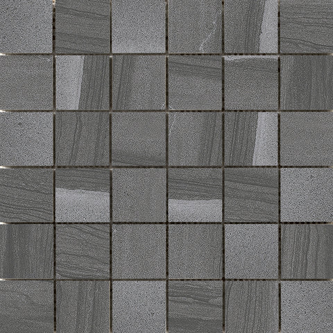 "SANDSTORM - 2""X2"" on 13"" X 13"" Mesh Mosaic Glazed Porcelain Tile by Emser - The Flooring Factory"