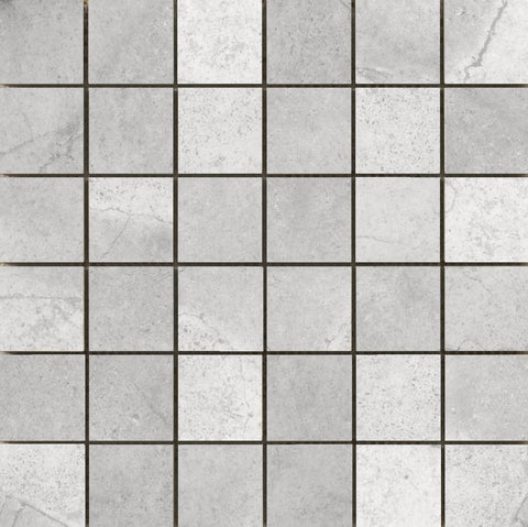 "ST. MORITZ II - 2""X2"" on 12""X12"" Mesh Mosaic Glazed Porcelain Tile by Emser - The Flooring Factory"
